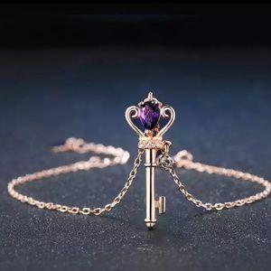 Amethyst & Rose Gold Plated Bracelet 101200